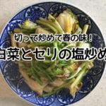 【アトピー簡単レシピ】白菜とセリの塩炒め☆切って炒めて春の味
